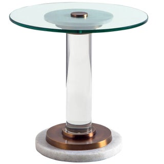 Contemporary Interlude Home Finley Accent Table For Sale