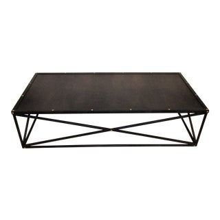 Industrial Restoration Hardware Large Metal Coffee Table For Sale