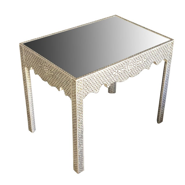 1990s Moorish Mother of Pearl Inlay Side Table For Sale - Image 11 of 11