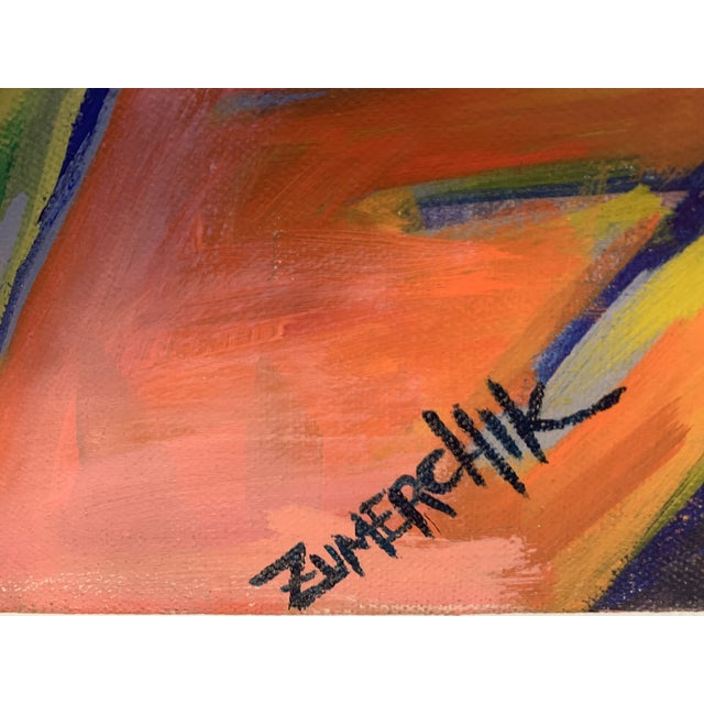 Abstract Large Surrealist Canvas Painting For Sale - Image 3 of 13