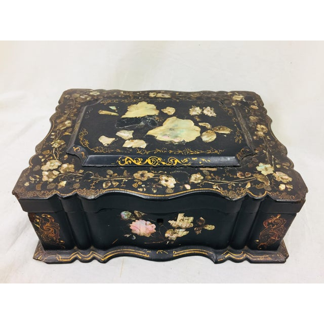 Antique Mother of Pearl Chinoiserie Box For Sale - Image 11 of 11