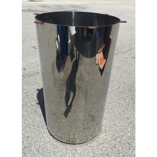 Mid-Century Modern 1960s Mid-Century Modern Marble and Chrome Dining Table For Sale - Image 3 of 11