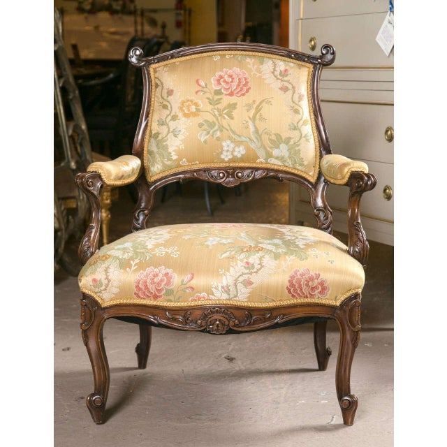 French Rococo Louis XV Style Armchairs - A Pair - Image 3 of 9