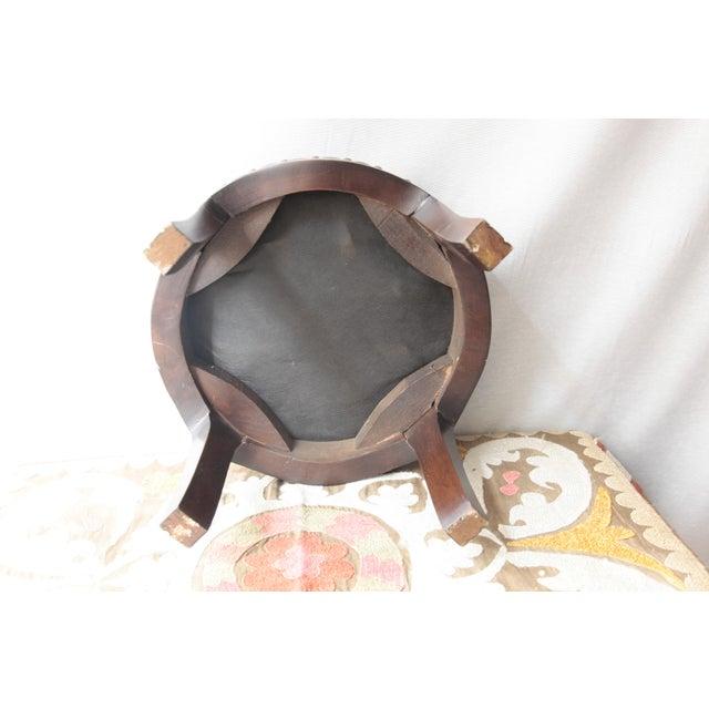 2010s Modern Kilim Upholstery Footstool-Round Kilim Stool For Sale - Image 5 of 7