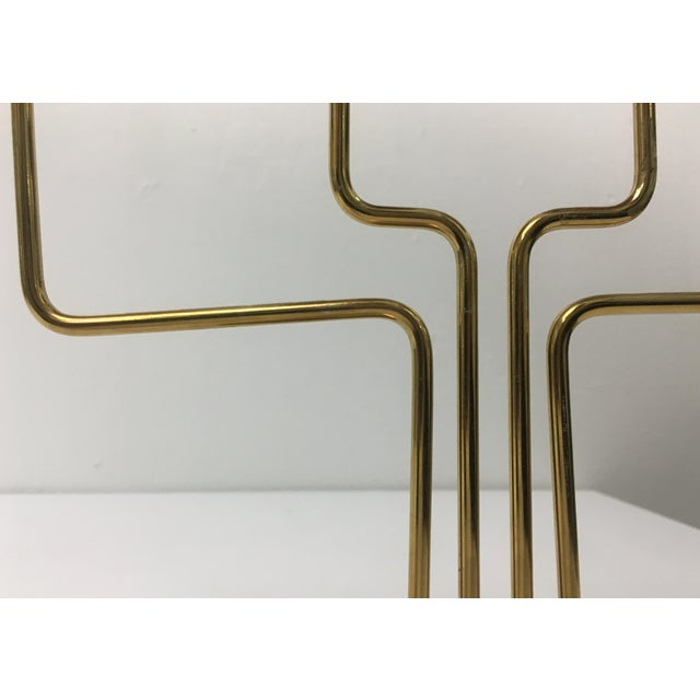 Metal Mid-Century Modern Style 4-Arm Brass Candelabra For Sale - Image 7 of 12
