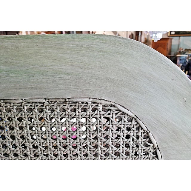 Vintage Louis XVI Style Caned Bed, Queen For Sale - Image 10 of 10