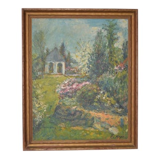 Ernest Frederick Meyer (1863-1952) Country Garden Landscape C.1920s For Sale