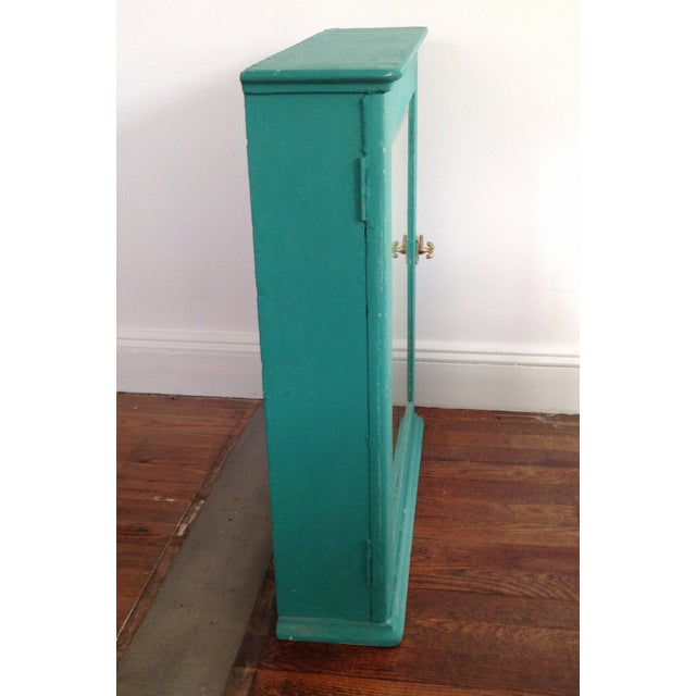 Teal Mirrored Medicine Cabinet, Storage Cabinet - Image 3 of 8