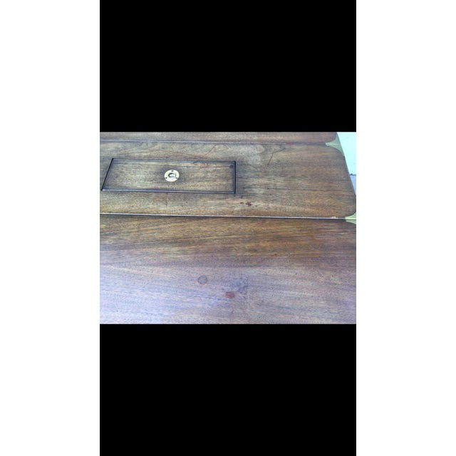Vintage Campaign Style Drop Leaf Dining Table - Image 6 of 6