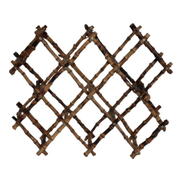 Vintage French Bamboo Wine Rack - Image 1 of 6