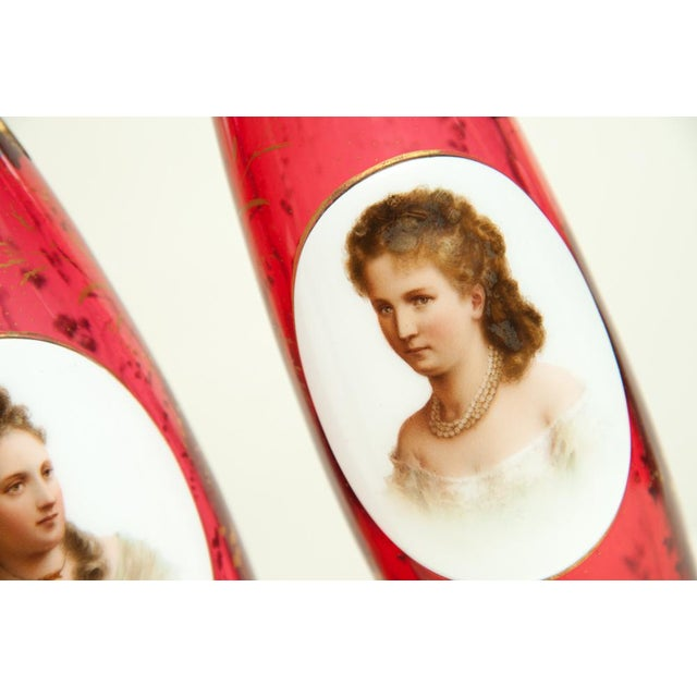 Traditional Pair of Porcelain Vases For Sale - Image 3 of 7