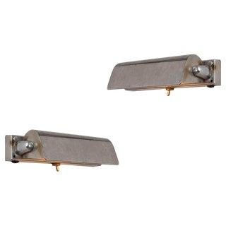 1940s Danish Modern Minimalist Adjustable Wall Lights - a Pair For Sale