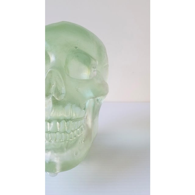 Glass Paul Marioni Sand-Casted Glass Skull For Sale - Image 7 of 8