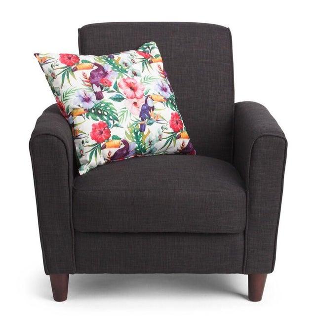 Watercolor Parrots & Palms Pillow - A Pair - Image 3 of 3
