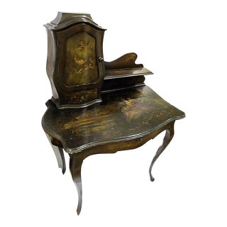 Italian Painted Writing Desk For Sale
