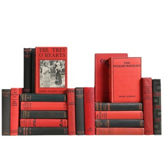 Red & Black Vintage Novels, S/20