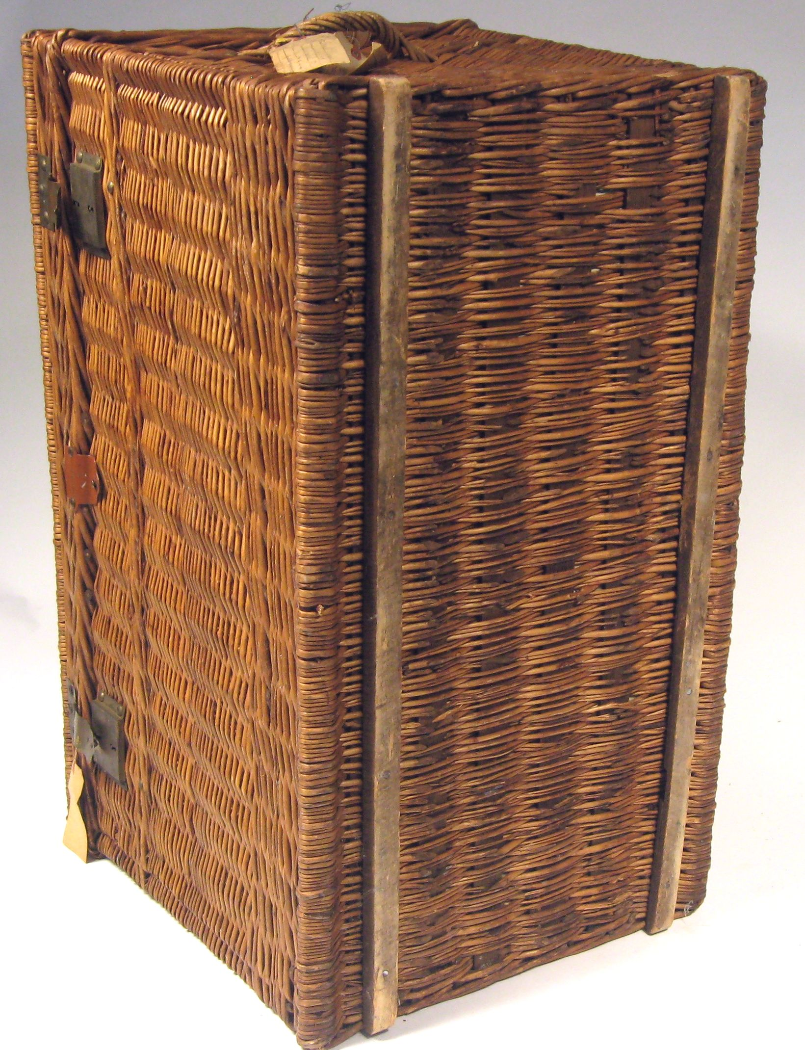 Brand-new Large Antique French Wicker Trunk | Chairish HO78