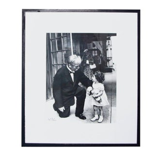 Nat Fein Signed Silver Gelatin Photograph Albert Schweitzer For Sale