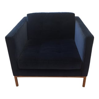 Room & Board Sabine Cobalt Blue Velvet Club Chair