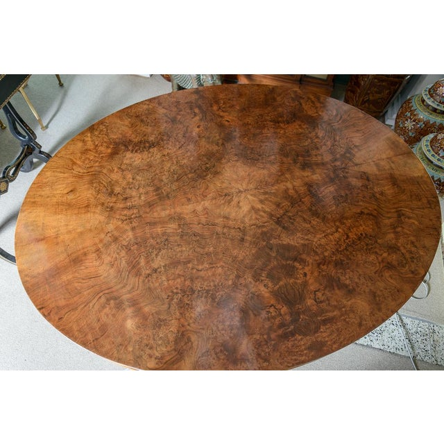 English Oval Center Table For Sale In West Palm - Image 6 of 8