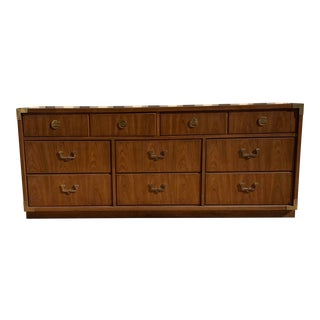 1970's Mid-Century Modern Thomasville Campaign Dresser For Sale