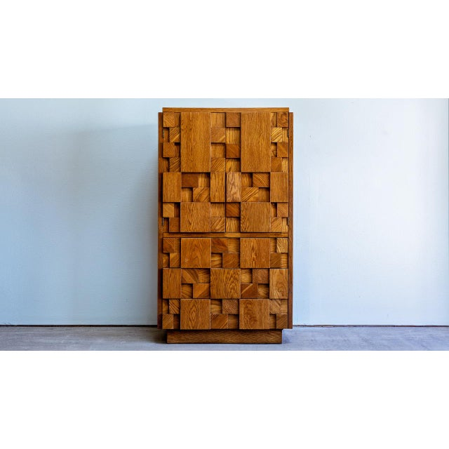 1970s Brutalist Lane Armoire For Sale - Image 10 of 10