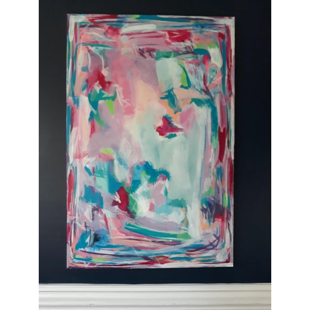 """""""Perfect Alignment"""" Abstract Art on Canvas by Michelle Chong For Sale - Image 11 of 12"""