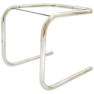 Mid-Century Modern Tubular Chrome Side Table in the Style of Thonet, 1960's For Sale