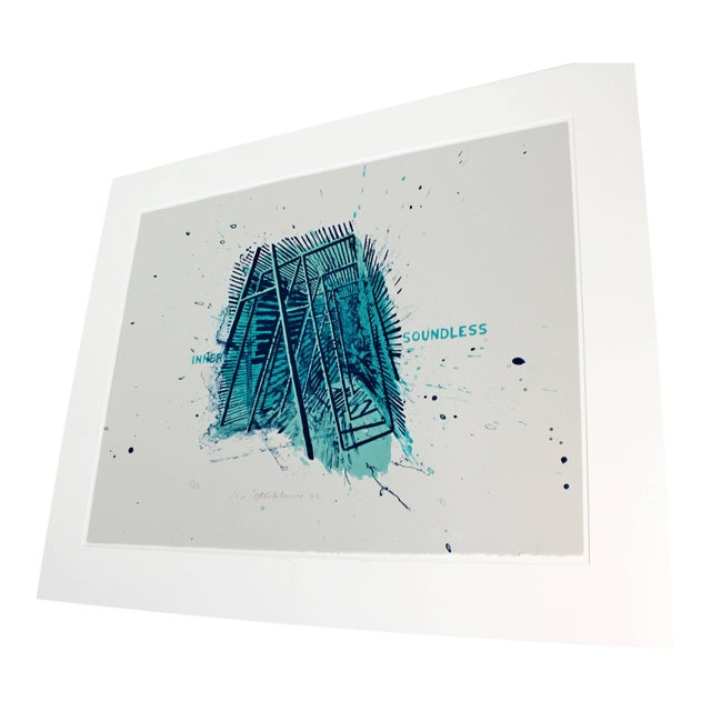 Unframed Signed Dated Numbered Robert Stackhouse Inner Soundless Lithograph 1992 For Sale