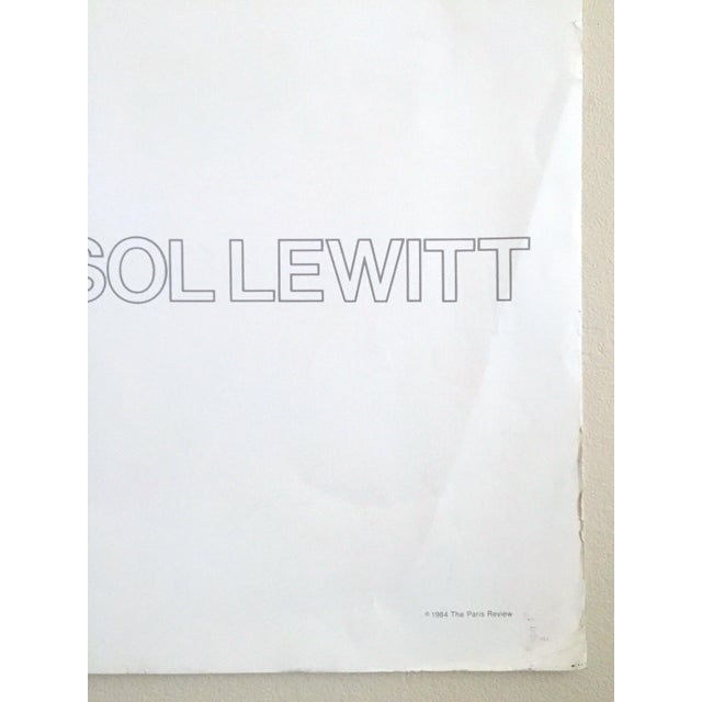 """Sol Lewitt Rare Vintage 1984 """"Paris Review 30th Anniversary"""" Original Silkscreen Print Limited Edition Poster For Sale - Image 11 of 13"""