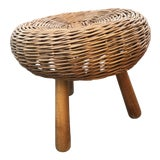 Image of 1960s Mid Century Tony Paul Wicker Stool For Sale