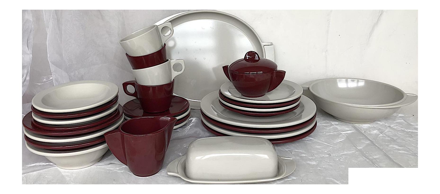 Vintage Boontonware Melmac Melamine Dinnerware Set - 31 Pc.  sc 1 st  Chairish & Vintage Boontonware Melmac Melamine Dinnerware Set - 31 Pc. | Chairish