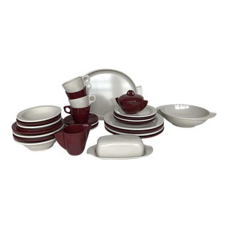 Vintage Boontonware Melmac Melamine Dinnerware Set - 31 Piece For Sale
