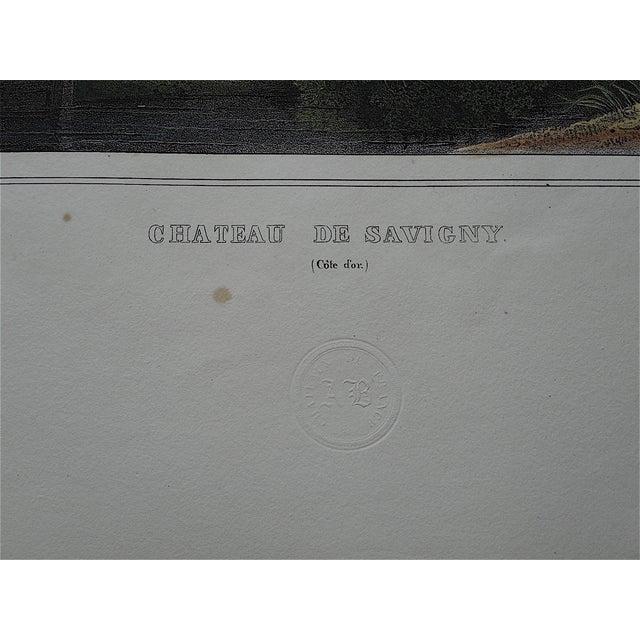 Antique Chateaux De France Lithograph For Sale - Image 4 of 4