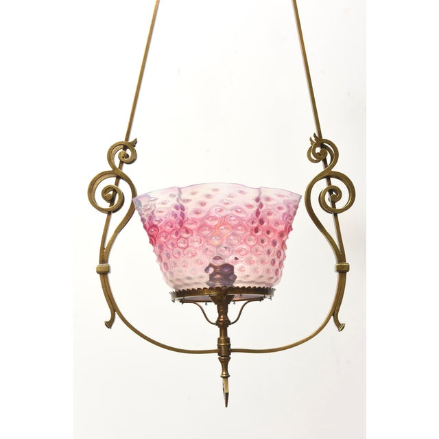 Ruffled Pink Hobnail Lantern For Sale - Image 10 of 11