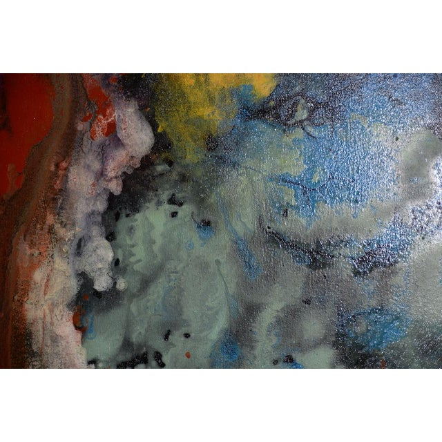 Black 21st C. Modernist Abstract Oil Painting by Manor Shadian (B.1931 Iran / California) For Sale - Image 8 of 12