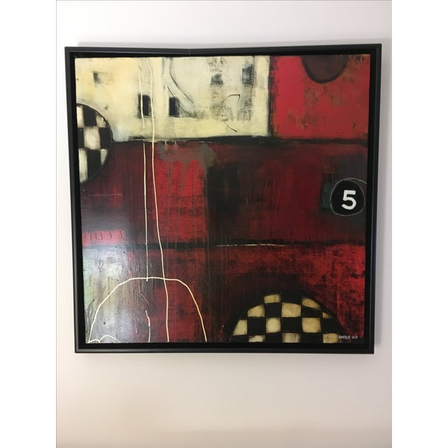 """Contemporary """"5 Ball"""" Mixed Media by Anke Schofield For Sale - Image 3 of 4"""
