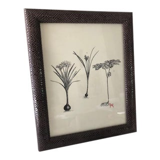 Faux Cool Gray Shagreen Picture Frame For Sale