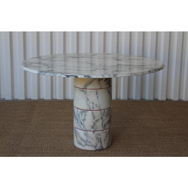 Vintage 1970s Post-Modern Italian Marble Dining Table For Sale - Image 12 of 12