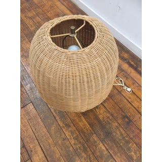 1960s Vintage Wicker Lamp and Shade Preview