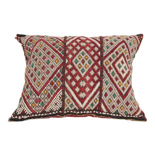 Moroccan Handwoven Tribal Berber Kilim Throw Pillow For Sale
