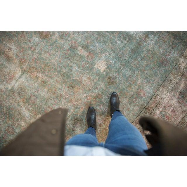 "1950s Vintage Distressed Tabriz Square Carpet - 11'10"" X 13'11"" For Sale - Image 5 of 13"