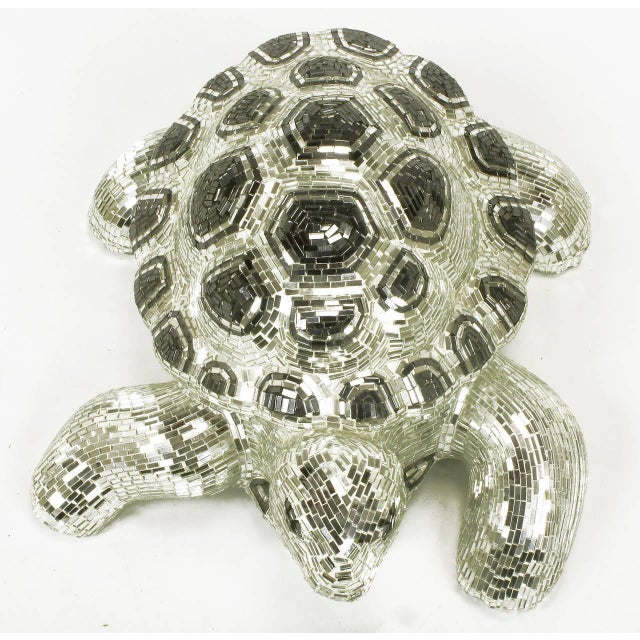 Lifesize Tortoise Sculpture Clad in Tessellated Mirror - Image 7 of 10