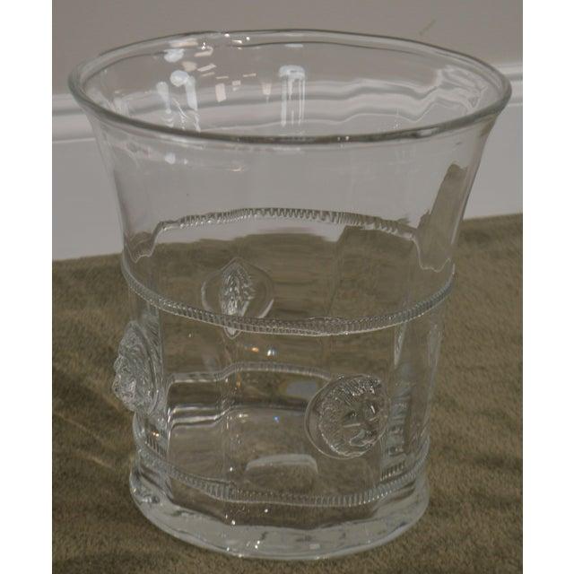 Transparent Abigails Czech Republic Lion Head Glass Ice Bucket For Sale - Image 8 of 13