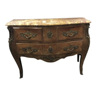 20th Century French Louis XIV Wood Commode For Sale