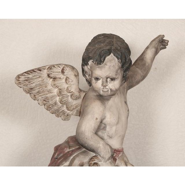 Antique Carved Wooden Angel For Sale - Image 9 of 11
