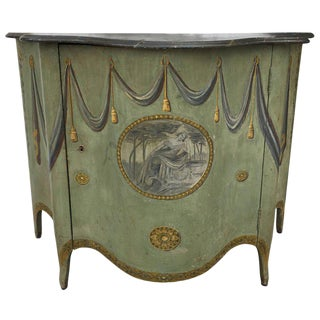George III-Style Painted Cabinet For Sale