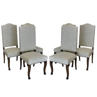 19th Century French High Back Dining Chairs - Set of 6