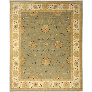 Kafkaz Peshawar Augustin Gray/Ivory Hand-Knotted Rug - 8'0 X 10'5