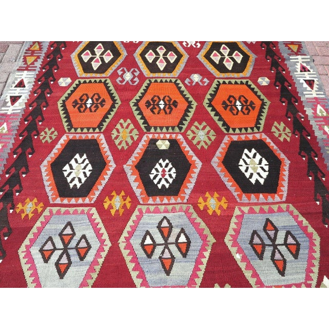 Vintage Turkish Kilim Rug - 6′6″ × 12′5″ - Image 5 of 10
